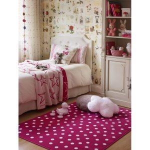 Dywan wkolorze różowym wkropki Lorena Canals