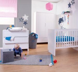 biało-szary pokój dziecka